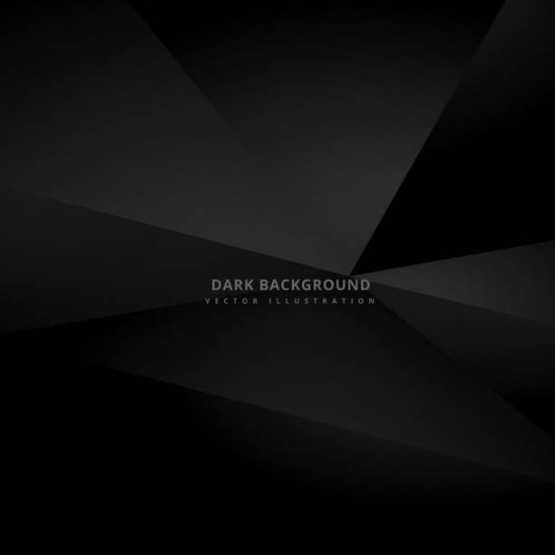 dark black 3d background vector art illustration
