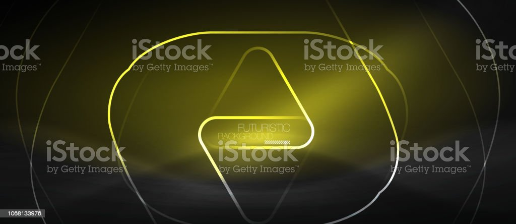 Dark black abstract background with neon colors and lines vector art illustration