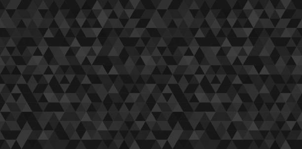Dark black geometrical mosaic abstract seamless backround. Black triangular low poly style pattern. Vector illustration vector art illustration