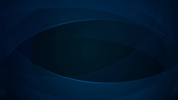 Dark blue abstract background Abstract background of curved lines in dark blue colors dark blue stock illustrations