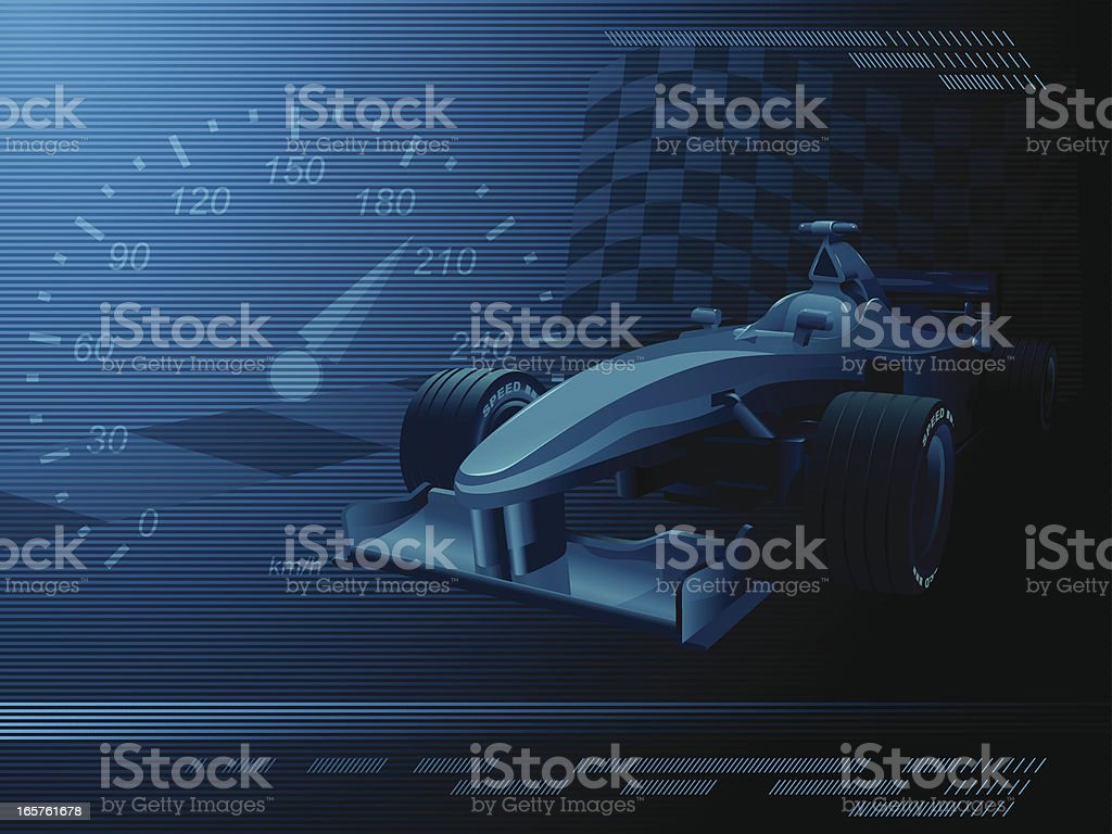 A dark blue and black background representing racecar events vector art illustration