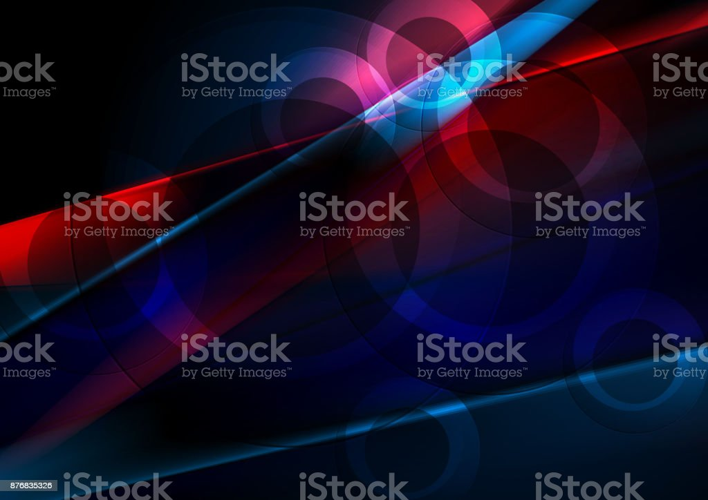 Dark blue and red abstract shiny background vector art illustration