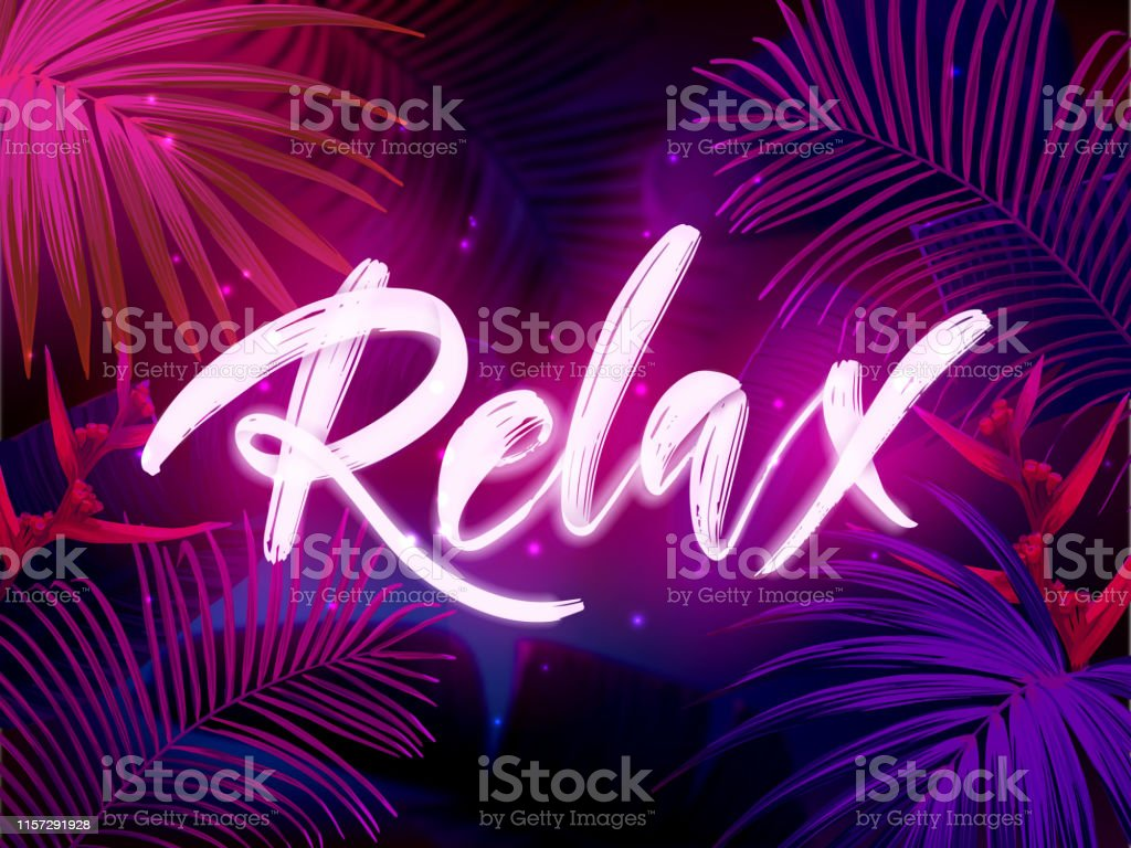 Dark Blue And Violet Neon Tropical Design With Palm Leaves And 3d Lettering Summer Night Vector Illustration Stock Illustration Download Image Now Istock Find over 100+ of the best free tropical leaves images. https www istockphoto com vector dark blue and violet neon tropical design with palm leaves and 3d lettering summer gm1157291928 315728822