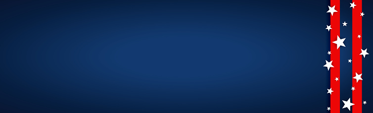 Dark blue background of the 4th of July celebration of the Independence Day of the United States - Vector