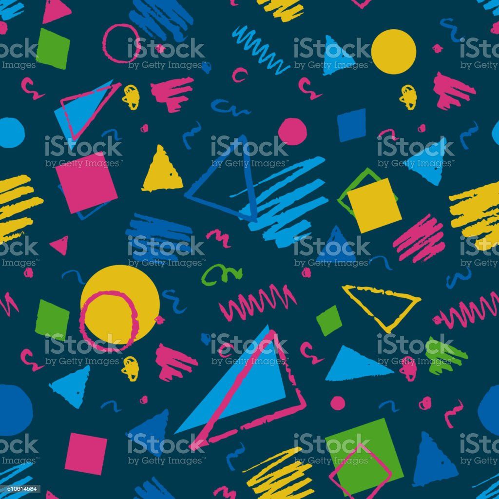 Dark blue geometric pattern vector art illustration