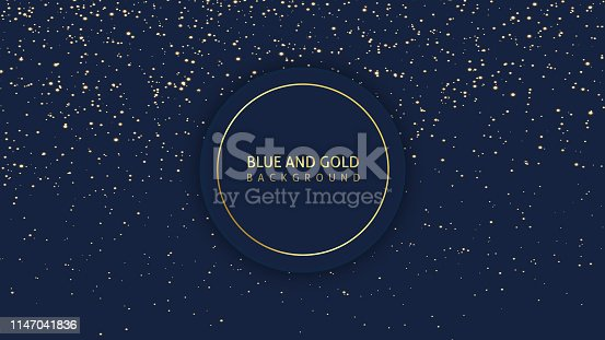 Dark blue glitter background