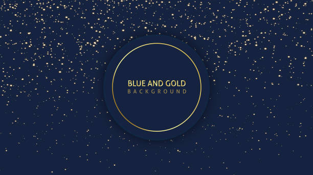dark blue glitter background - ночь stock illustrations