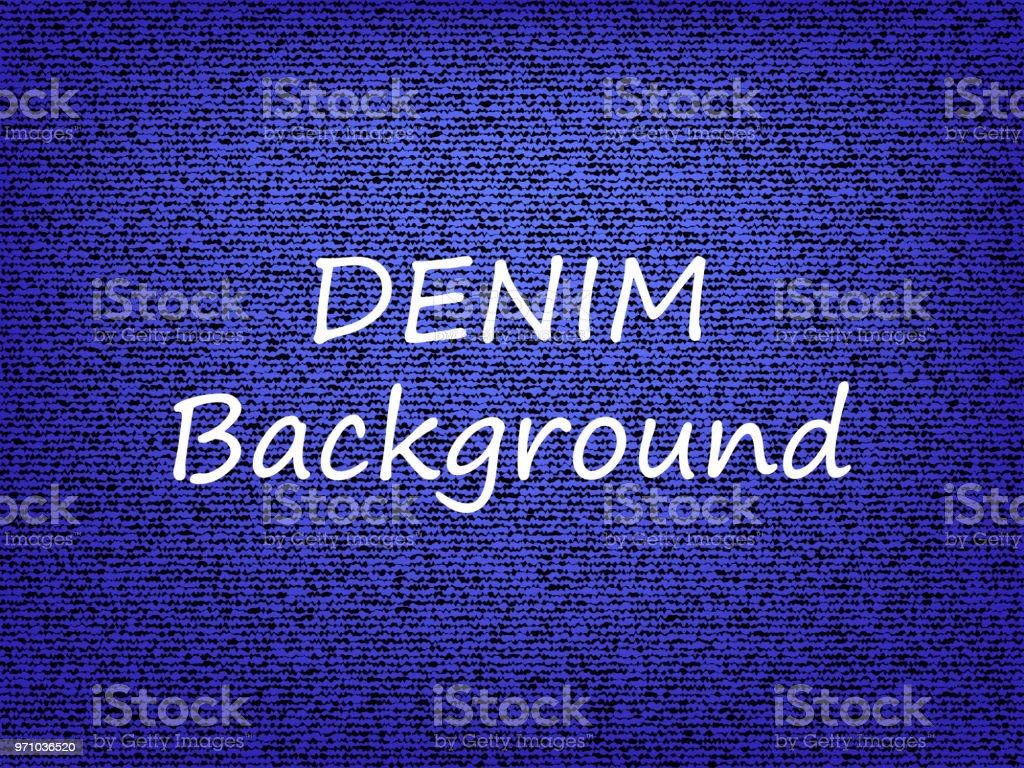 Dark blue jeans background. Vector illustration. vector art illustration
