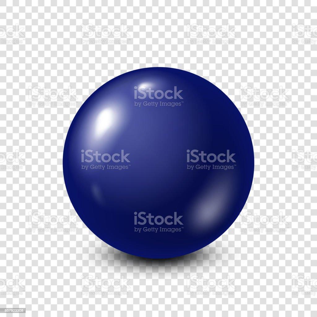 Dark blue lottery, billiard,pool ball. Snooker. Transparent background. Vector illustration vector art illustration