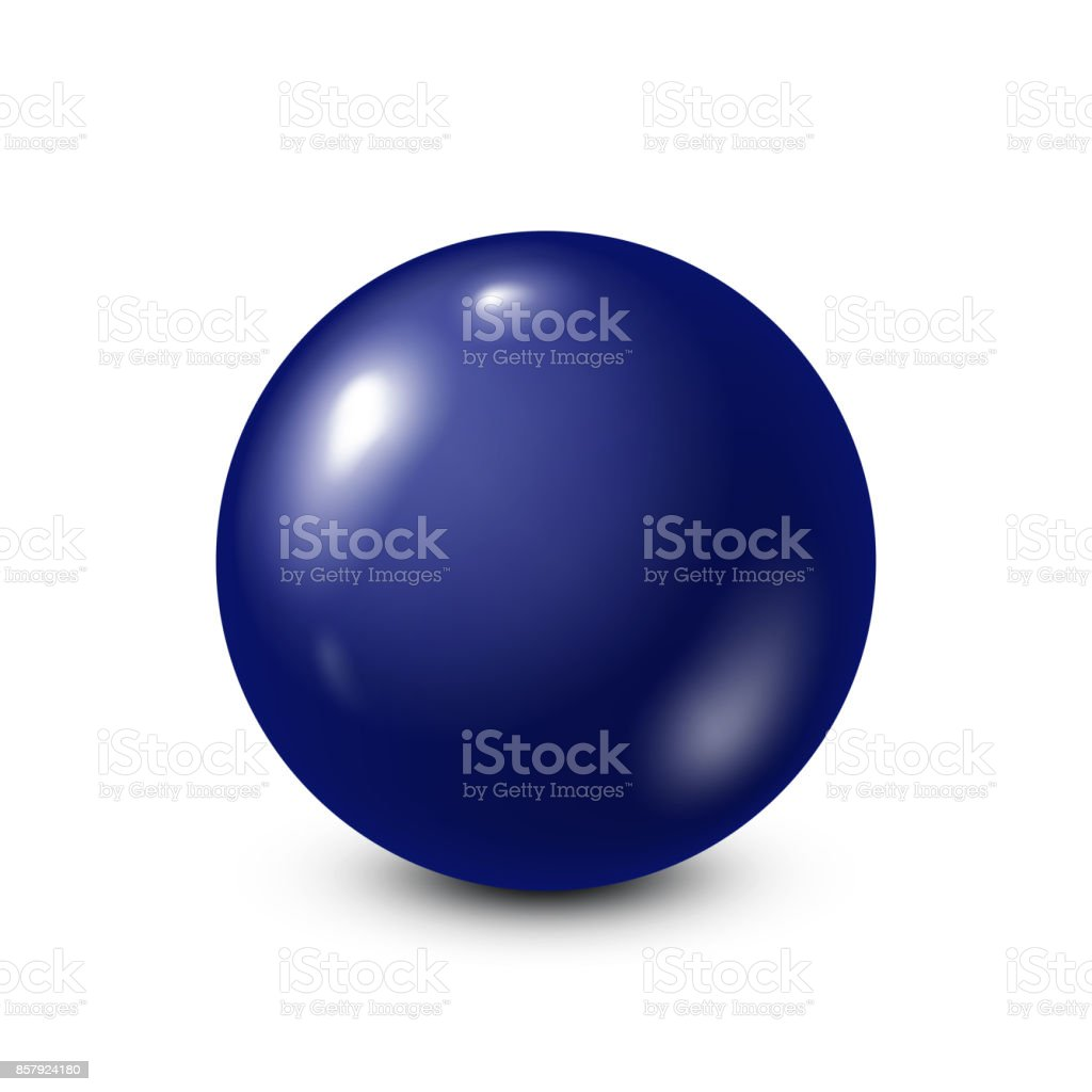 Dark blue lottery, billiard,pool ball. Snooker. White background. Vector illustration vector art illustration