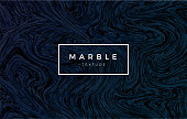 Dark blue marble background. Vector trendy texture