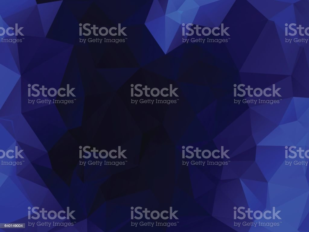 dark blue polygonal abstract background vector art illustration