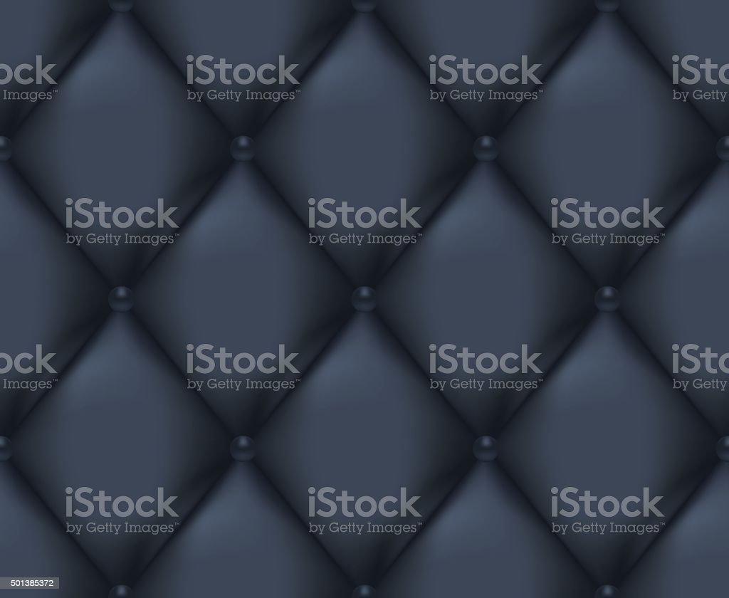 Dark Blue Quilted Seamless Vector Pattern vector art illustration