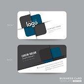 Dark Blue Triangle modern business card design