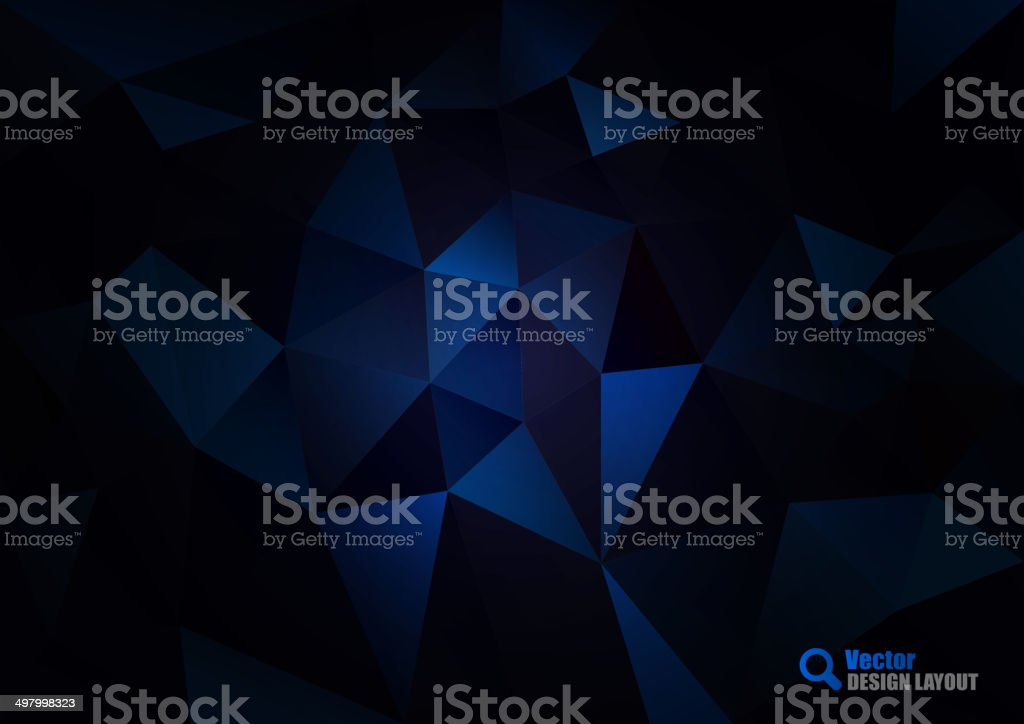 Dark Blue Triangles vector art illustration