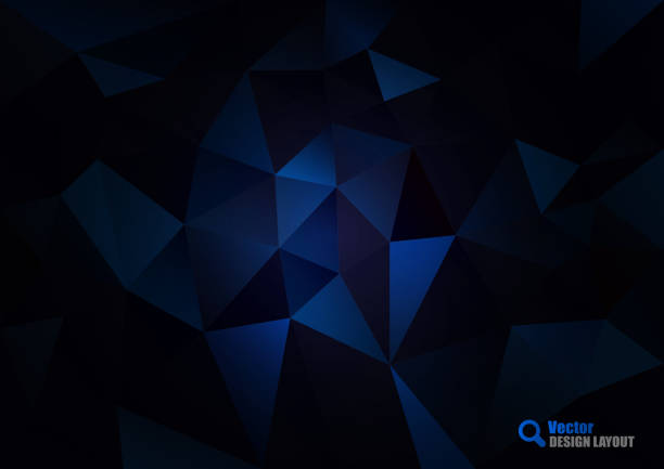 dark blue triangles - dark blue stock illustrations