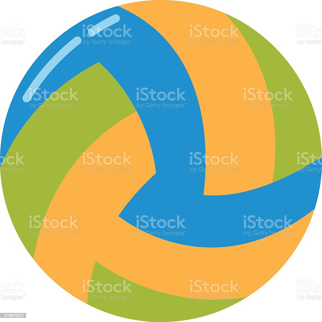 Dark blue, yellow volleyball ball on a white background illustration vector art illustration