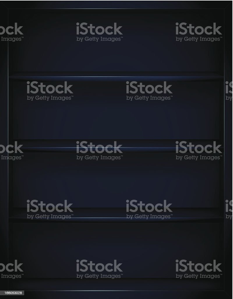 Dark Bookshelves Background royalty-free stock vector art