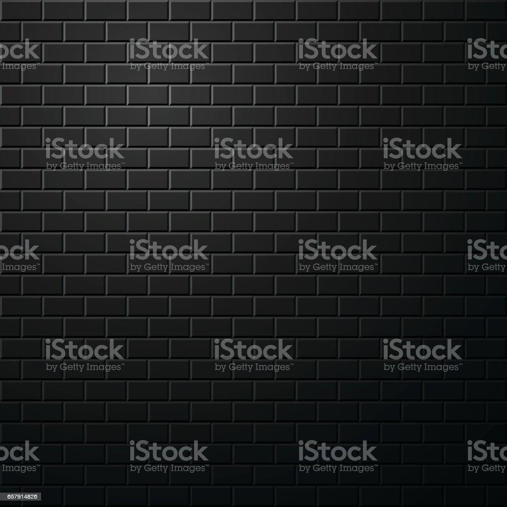 Dark brick wall background. vector art illustration