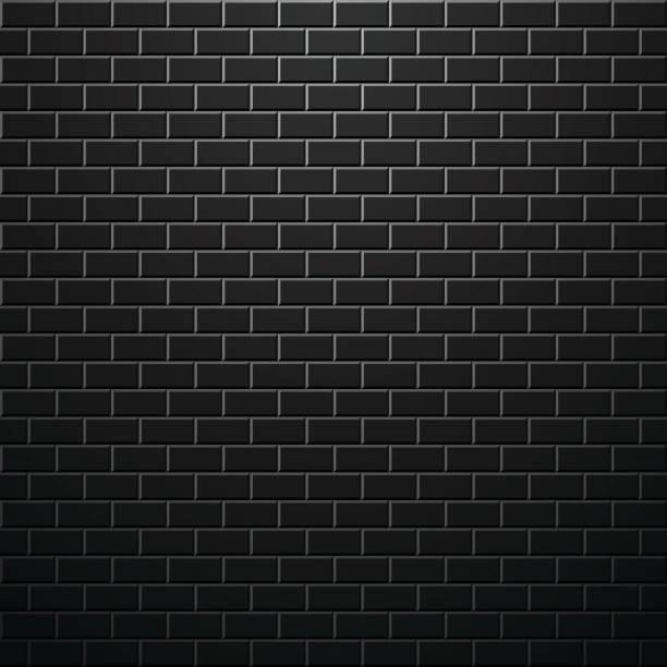 Dark brick wall. Vector background. vector art illustration