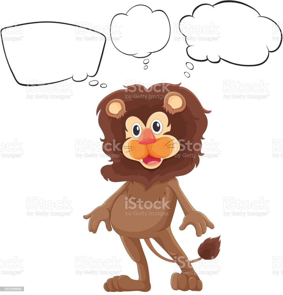 dark brown lion with empty callouts
