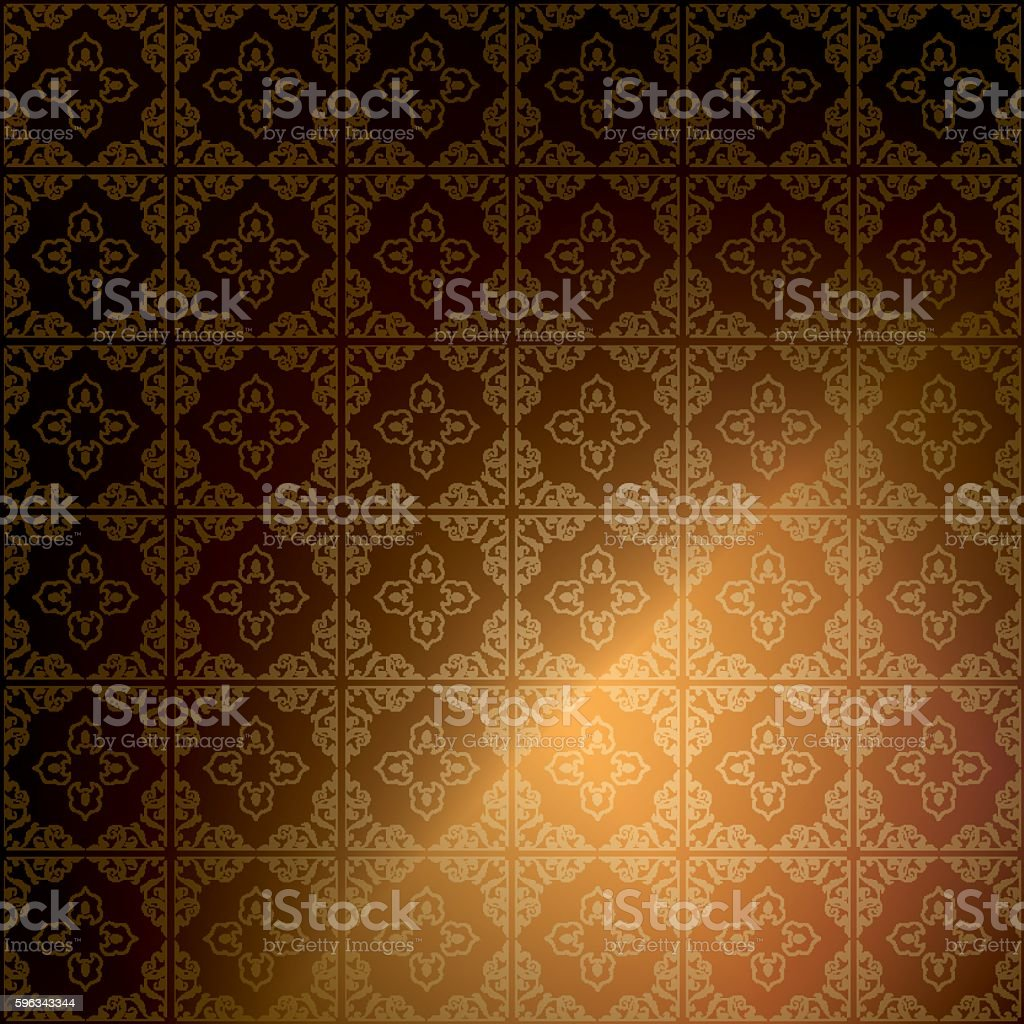 dark brown ornamental background - vintage vector royalty-free dark brown ornamental background vintage vector stock vector art & more images of backgrounds