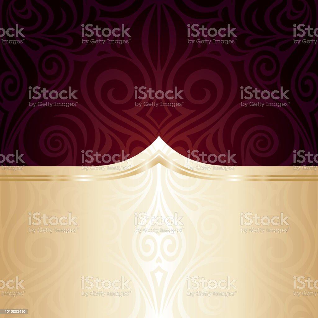 Dark Brown Red wallpaper vector invitation background векторная иллюстрация