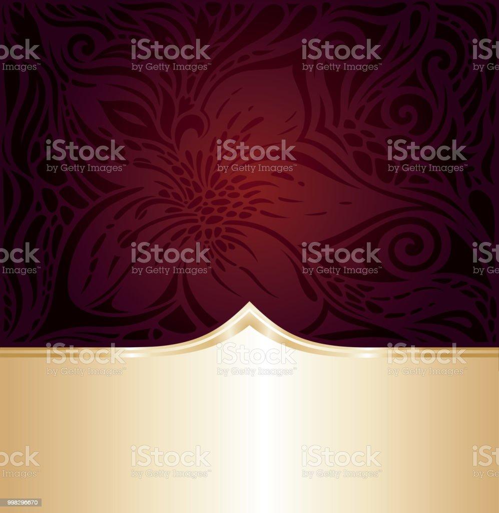 Dark Brown Red wallpaper vector invitation design background векторная иллюстрация