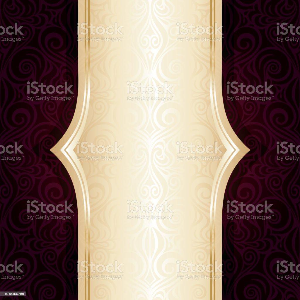 Dark Brown Red wallpaper vector invitation repeatable design background with copy space векторная иллюстрация