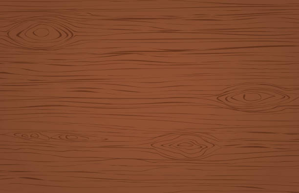 dark brown wooden cutting, chopping board, table or floor surface. wood texture. - wood texture stock illustrations