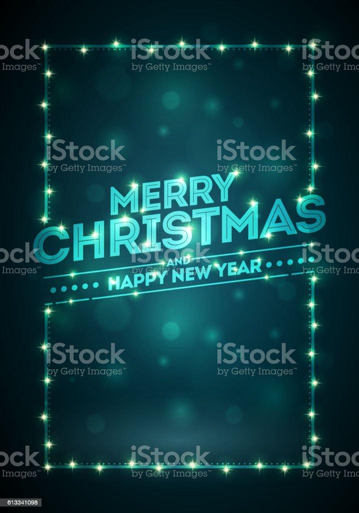 Dark Christmas Background vector art illustration
