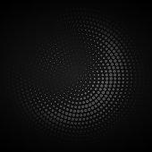 dark circular halftone background