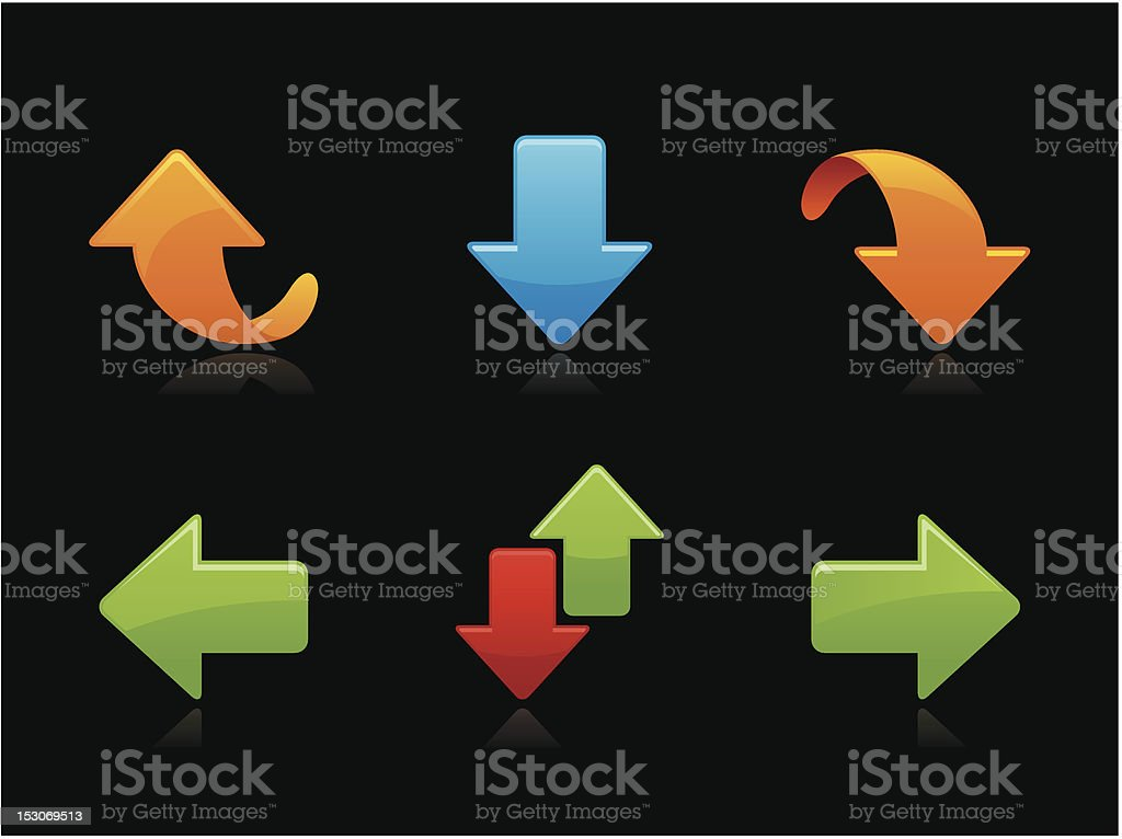 Dark collection - Arrows royalty-free stock vector art
