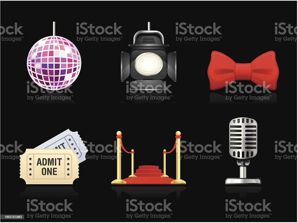 Dark collection - Performance royalty-free stock vector art