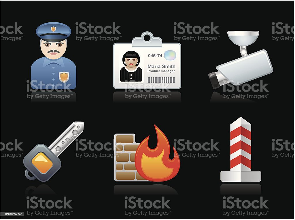 Dark collection - Safety royalty-free stock vector art