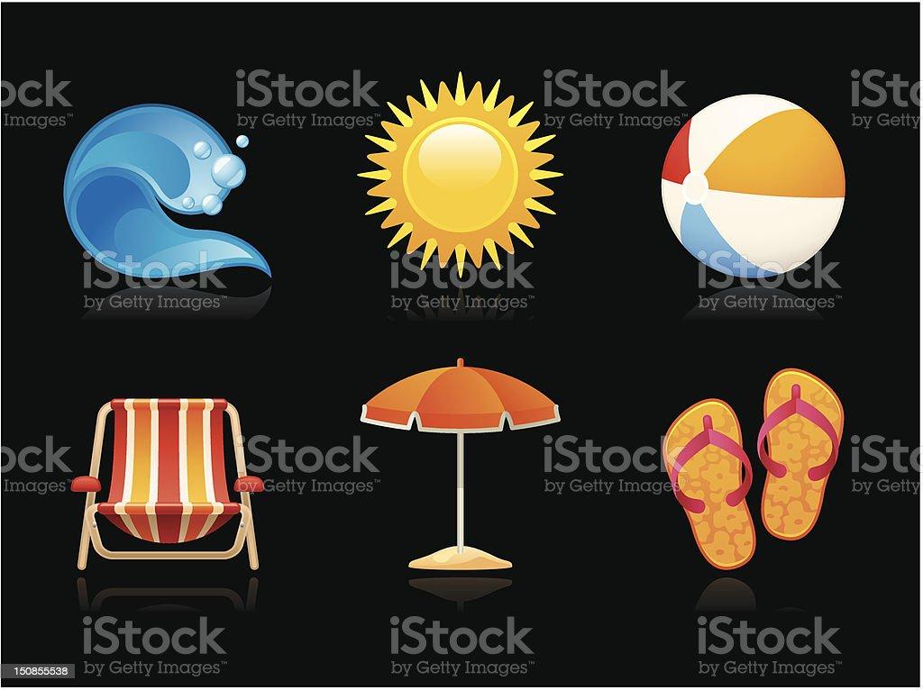 Dark collection - Summer vacation royalty-free stock vector art