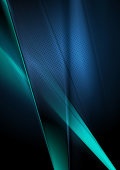 Dark deep blue abstract shiny blurred background. Vector design