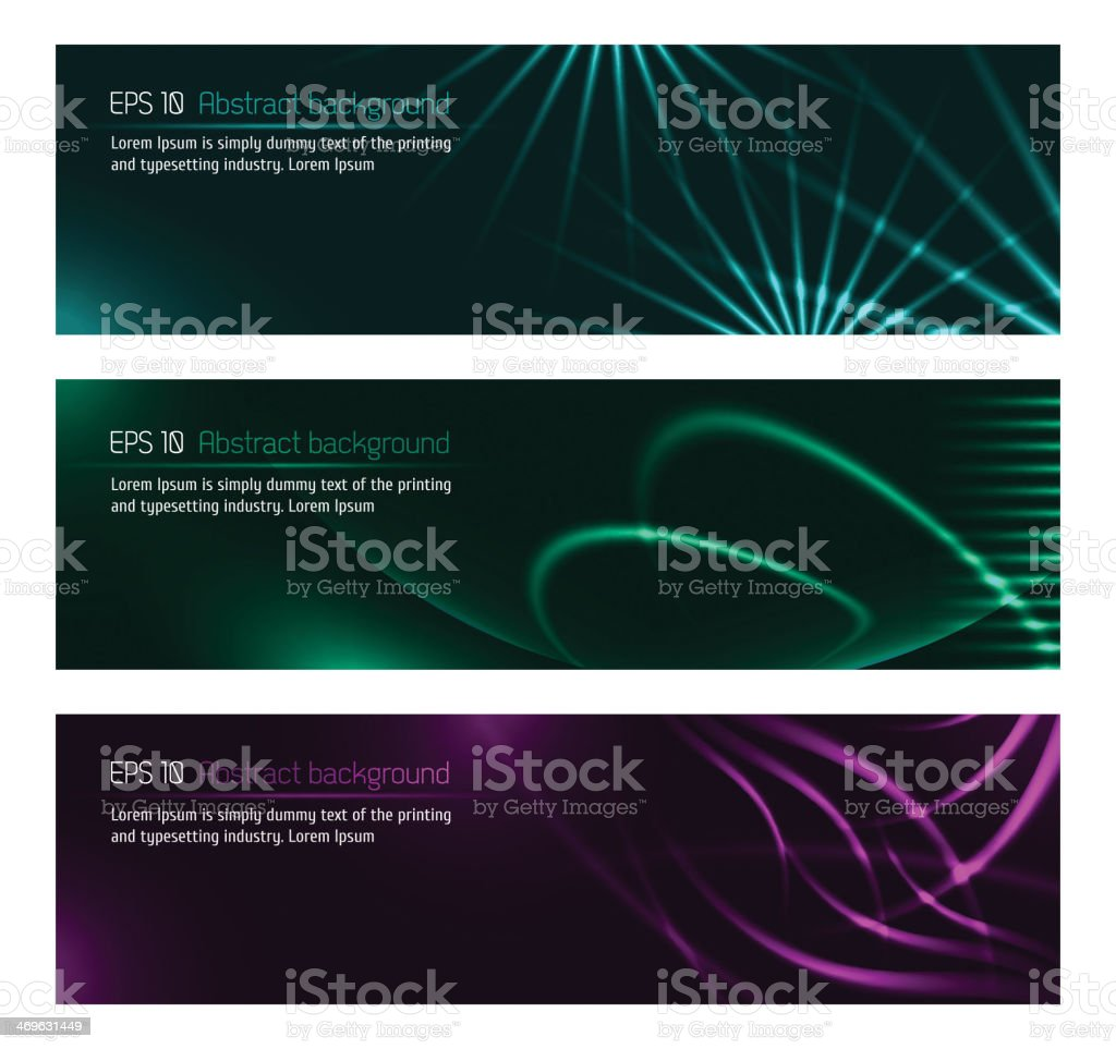 Dark design banners template for you designs royalty-free stock vector art