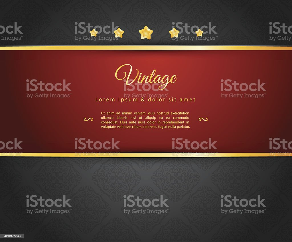 Dark design template vector art illustration