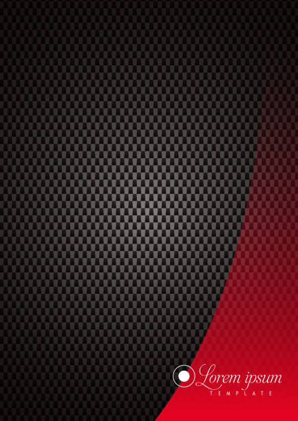 Dark Dots Texture Background With Elegant Red Over Design Element Vector Illustration of an Elegant Template with Dark Dots Texture Background in a Poster A3 Format. Over it an Elegant Red Vector Design Element for your message or Brand, or Logo Company. alveolar duct stock illustrations