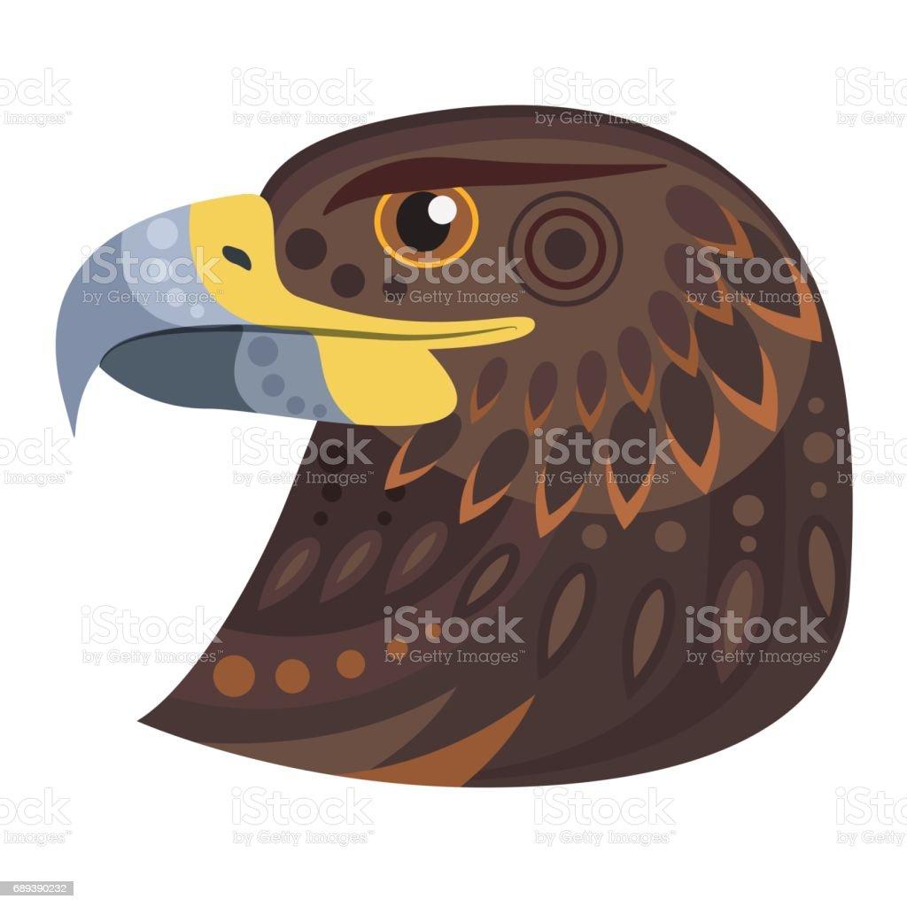 Dark eagle head icon. Vector decorative Emblem. vector art illustration