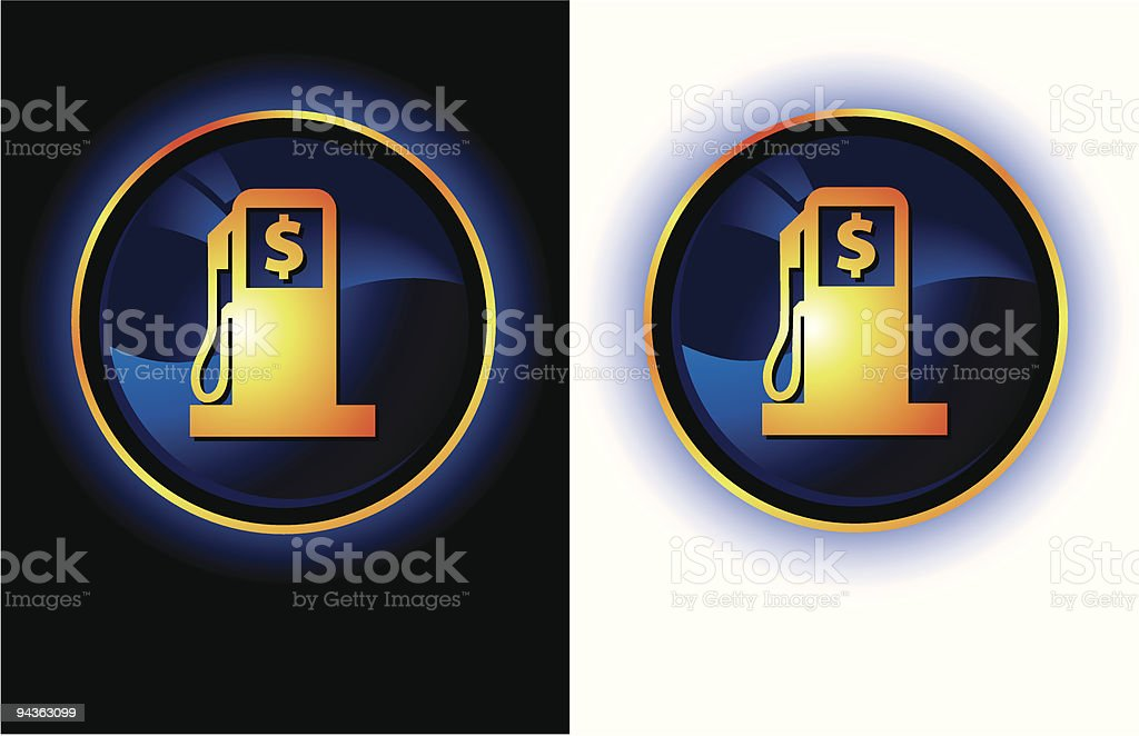 Dark Gas Icons royalty-free stock vector art