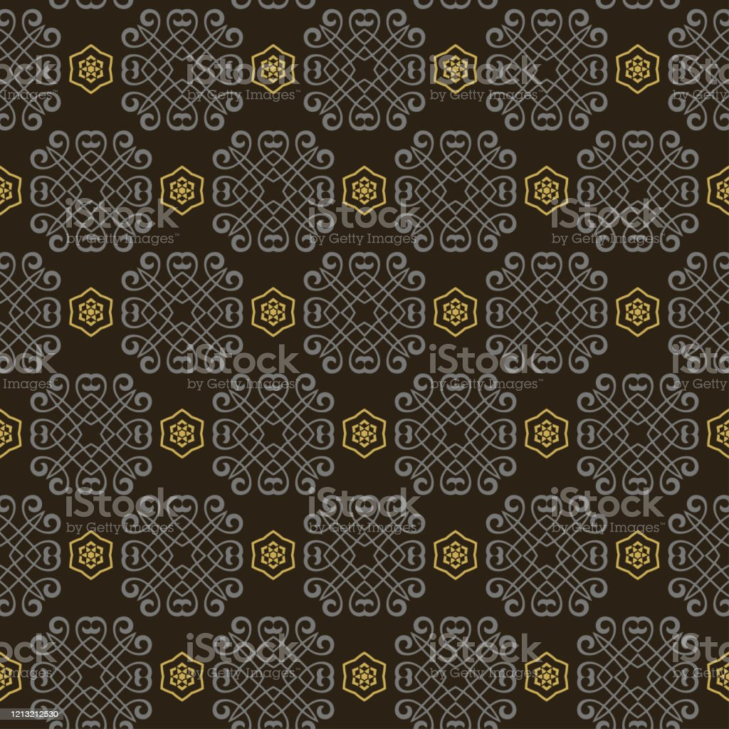 Dark Geometric Pattern Modern Background Vector In Asian Style
