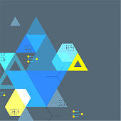 Abstract geometric shape graphic. Vector artwork is easy to colorize, manipulate, and scales to any size.