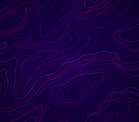 Dark Glow Abstract Topography
