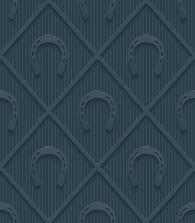 Dark gray horseshoes wallpaper.