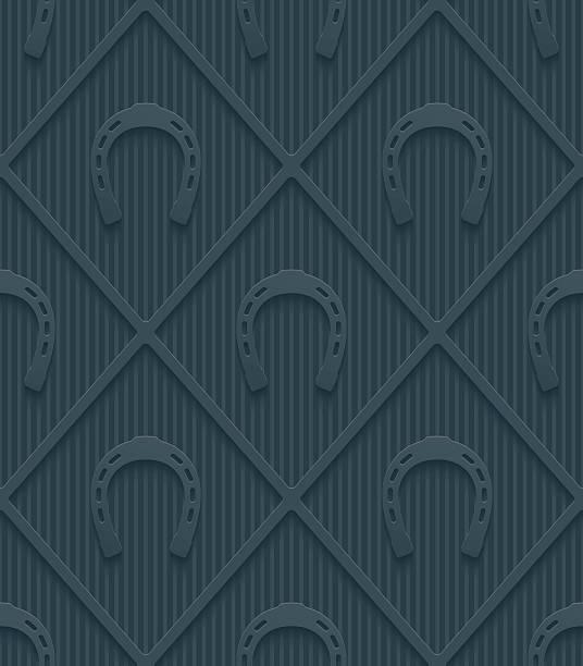 dark gray horseshoes wallpaper. - horse racing stock illustrations