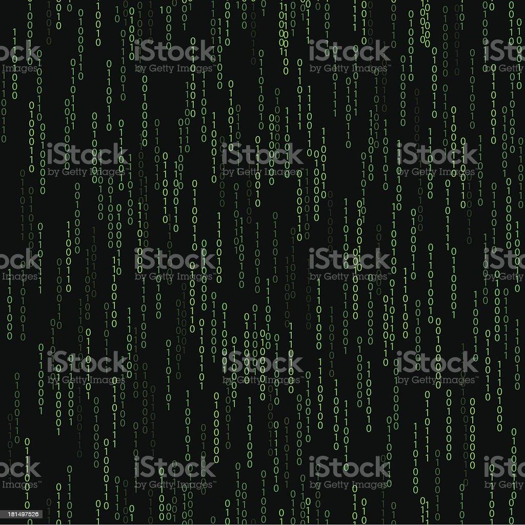 dark green seamless pattern with binary code royalty-free stock vector art