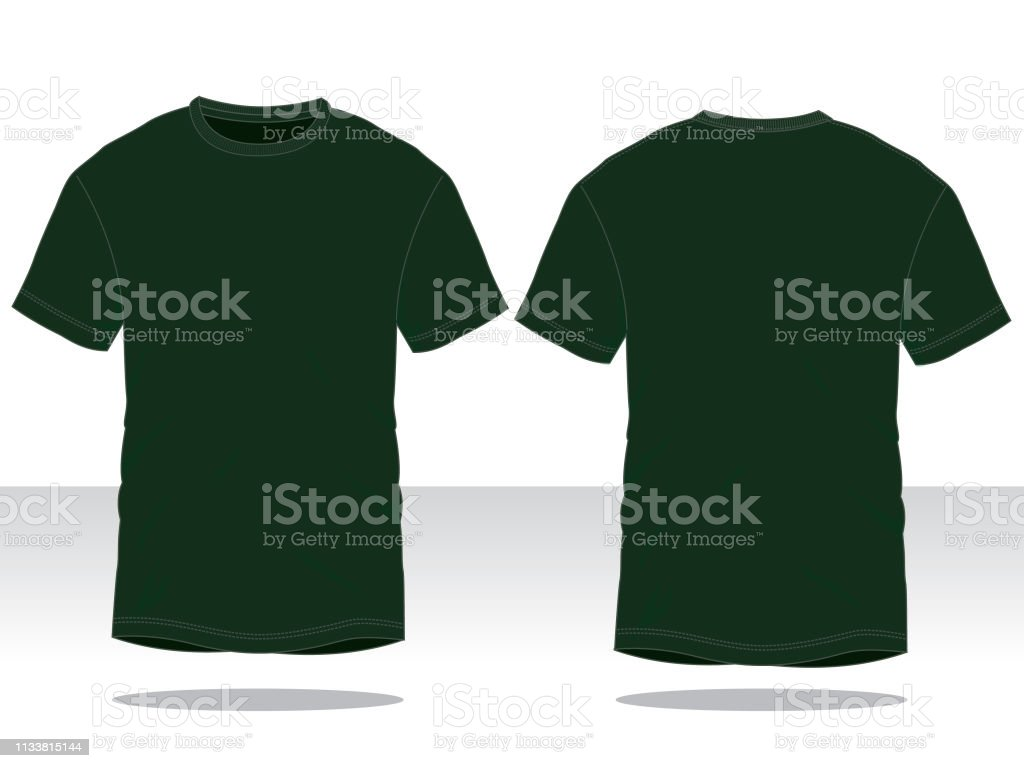 Dark Green Tshirt Vector For Template Stock Illustration - Download Image  Now