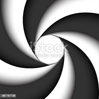 Dark grey and white modern swirl, abstract vector background, simple illustration